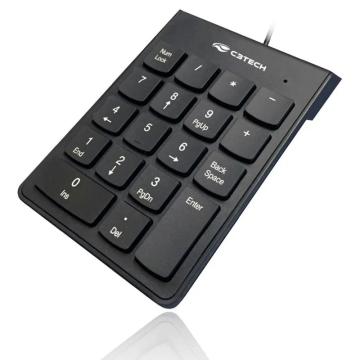 Teclado C3TECH KN-10BK com Fio USB