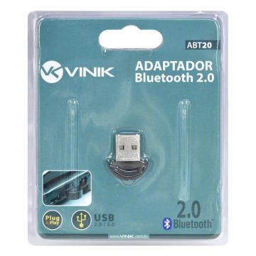 ADAPTADOR USB BLUETOOTH MINI ABT20 2.0 VINIK