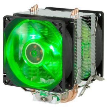 Cooler para processador INTEL/AMD Dupla-Fan DX-9100D DEX COM LED