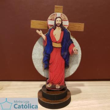 Cruz 3D Ícone Santas Chagas 15cm - 105061