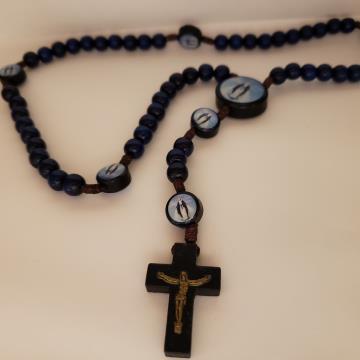 Terço azul 8mm Nossa Senhora das Graças - 122742