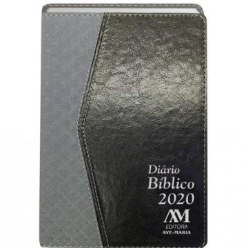 Diário Bíblico 2020 - Luxo - Cinza Com Preto - 429002