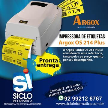 IMPRESSORA TERMICA ARGOX OS214 PLUS USB