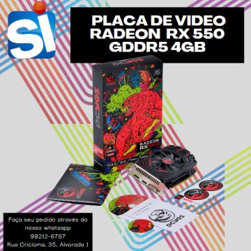 Placa de Video Gamer Radeon RX550 4GB PCI 3.0 HDMI 128 Bits