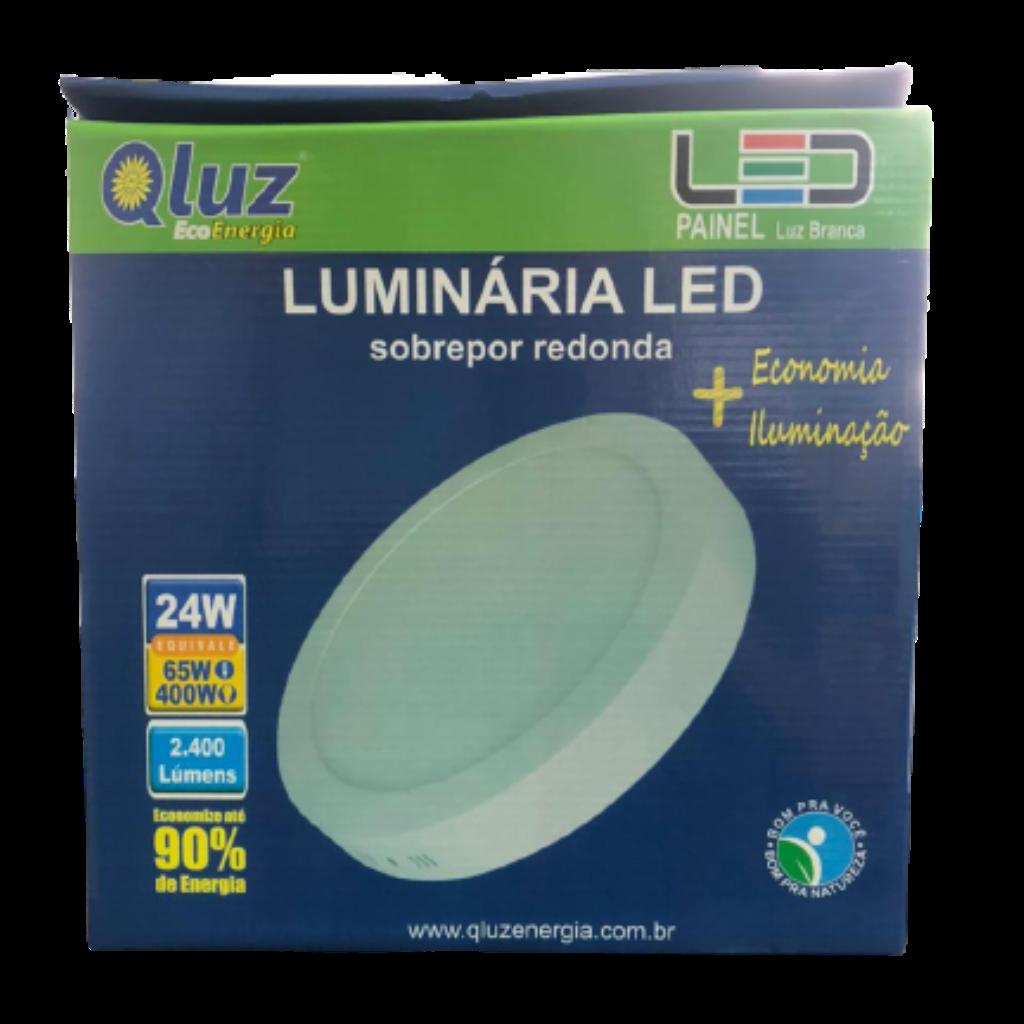 Luminária LED soprepor redonda 24W Qluz