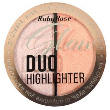 527412 Duo Iluminador Glow HB-7522 Cor 03 Ruby Rose