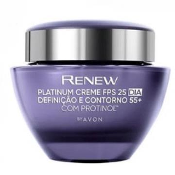 512849 Creme Facial Renew Platinum Definição e Contorno FPS 25 Dia +55 Avon 50g