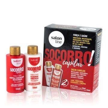955110 Tratamento de Choque Socorro Capilar Salon Line 2 Itens (54ml - cada)