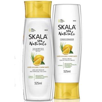 215368 Kit Shampoo + Condicionador Limão Siciliano e Capim Santo Skala