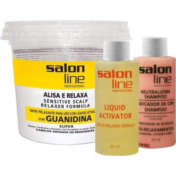 433171 Guanidina Salon Line Alisa e Relaxa Super Força Alta 215g