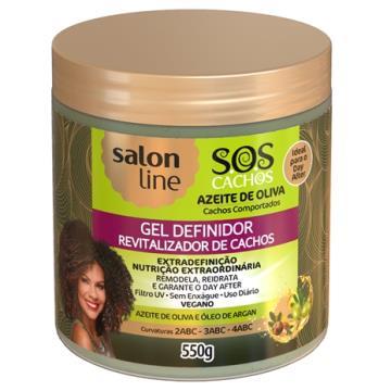 957060 Gel Azeite de Oliva Salon Line Definidor Cachos S.O.S 550g