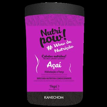 408666 Máscara de Hidratação Kanechom Nutri Pow Nutritiva Condicionante Hidratação e Força Açaí 1kg