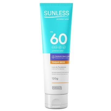 209046 Protetor Solar Sunless Toque Seco Corporal FPS 60 Farmax 120g