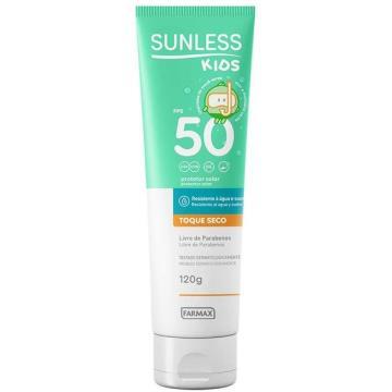 205390 Protetor Solar Sunless Toque Seco Kids FPS 50 Farmax 120g