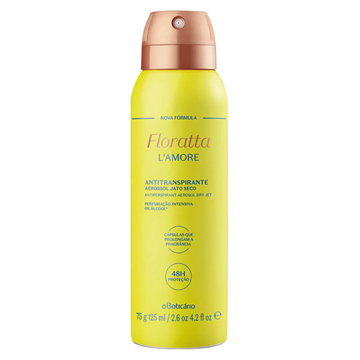 75820 Floratta L'Amore Boticário Desodorante Aerossol 125ml