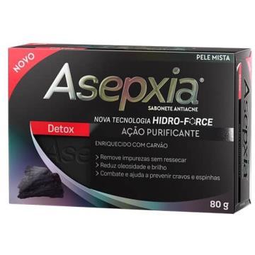 190874 Sabonete Asepxia Detox Antiacne Carvão em Barra 80g
