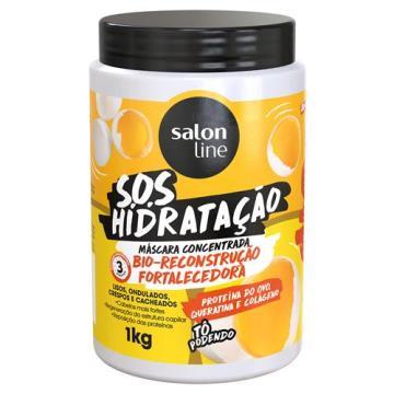 349322 Máscara de Hidratação Salon Line Bio Reconstrução Fortalecedora Concentrada S.O.S 1kg