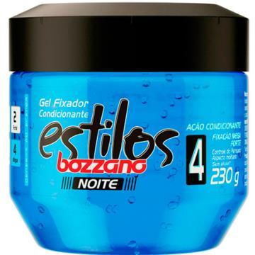 34912 Gel Fixador Cabelos Estilos Noite Azul Escuro Bozzano 230g