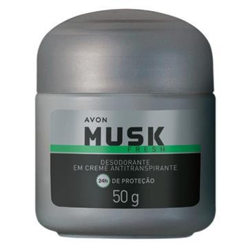 181179 Desodorante Creme Musk Fresh Avon 55g