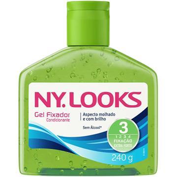 34943 Gel Fixador Condicionante Verde Ny Looks 240g