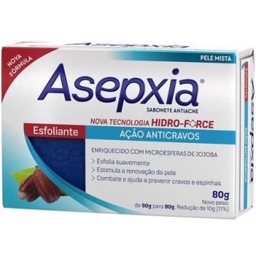 409533 Sabonete Barra Antiacne Esfoliante Asepxia 80g