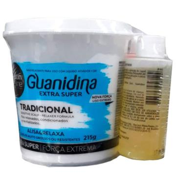 956087 Guanidina Salon Line Alisa e Relaxa Extra Super Força Extrema 215g