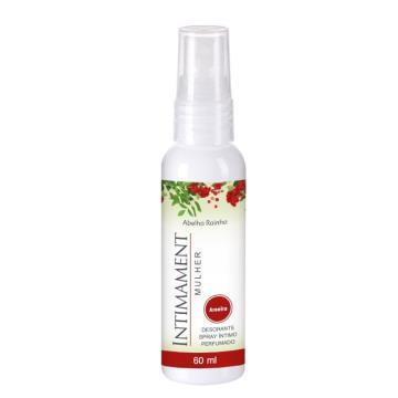 Desodorante Spray Íntimo Perfumado Morango Abelha Rainha 60ml