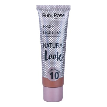 534281 Base Líquida Natural Look Chocolate 10 Ruby Rose 29ml