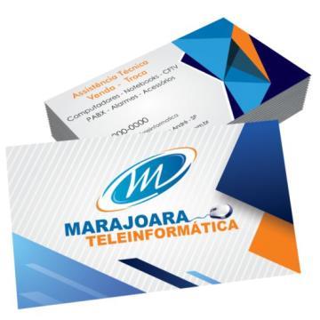 1000 Cartões -  4/0 - 9x5  cm - Duodesign 300 G/m² - Laminação Fosca 1/1 e UV Localizado 1/1