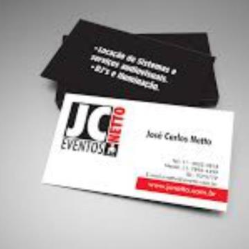 1000 Cartões - 4/1 - 9x5 cm - Couchê/Supremo 250 G/m² - UV Total Frente 1/0