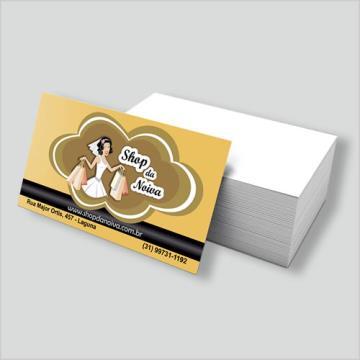 500 Cartões - com Arte Final - 4/0 -  9x5 cm - Couchê 300 G/m² - UV Total Frente 1/0