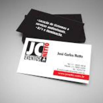 500 Cartões  - 4/1 - 9x5 cm - Couchê 300 G/m² - UV total Frente 1/0
