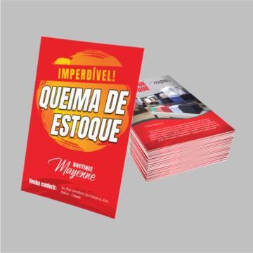 1000 Folhetos - 4/0 - 10x15 cm - Couchê 115 G/m²