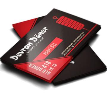 1000 Cartões -  4/4 - 9x5 cm - Duodesign 300 G/m² - Laminação Fosca 1/1 e UV Localizado 1/1