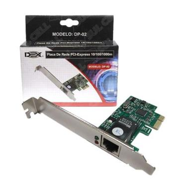 Placa de Rede Dex DP-02 PCIe 1Gbps