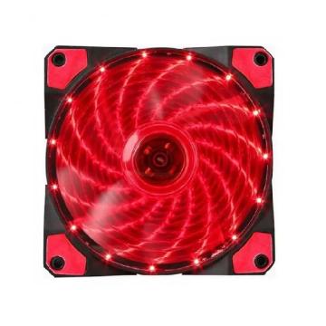 Cooler OEX Gabinete F20 120x120mm LED Vermelho