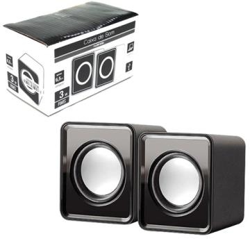 Caixa de Som Multilaser SP151 2.0 Mini 3W Rms