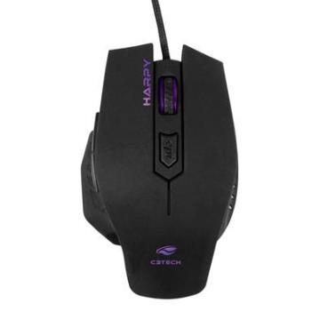 Mouse C3Tech Harpy MG-100BK 3200Dpi 6 Botões LED