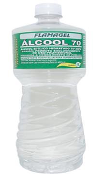 Álcool Etílico Hidratado 70% 1 litro - Flamagel