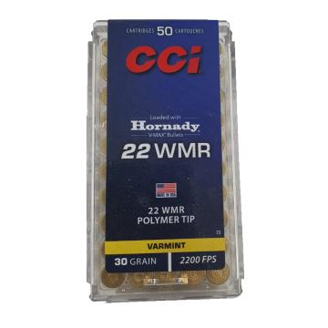 MUNICAO 22 MAG CCI V-MAX - 22 WMR 30 GR V-MAX CCI VARMINT