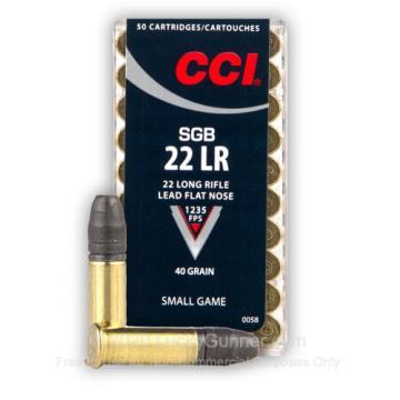 CARTUCHO CCI 22LR SMALL GAME 40GR