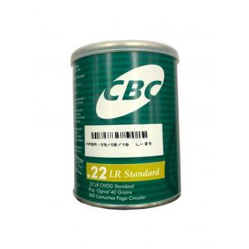 CARTUCHO CBC .22 LR CHOG 40GR STD LATA C 300