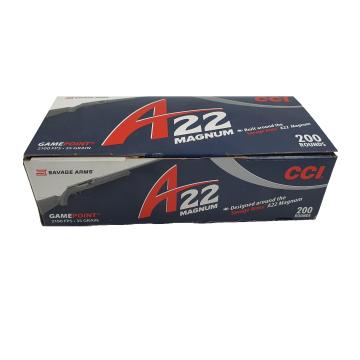 CARTUCHO CCI 22 MAG 200 - 22 WMR GAMEPOINT 35GR A22