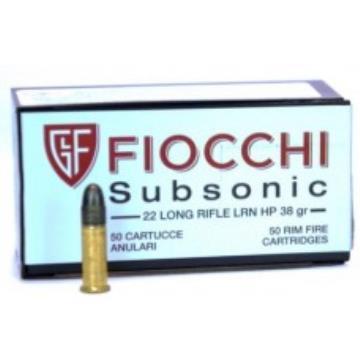 CARTUCHO FIOCCHI .22 LR 38GR SUBSONIC
