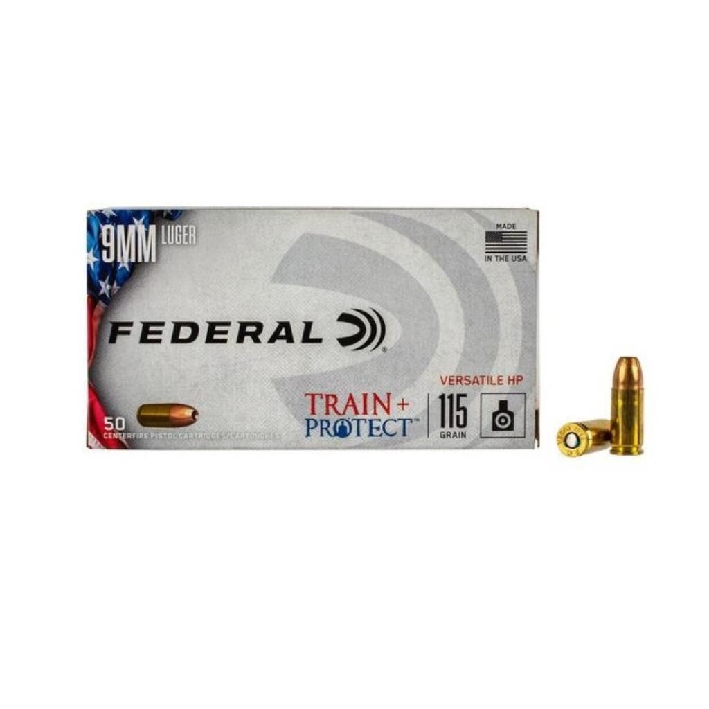 MUNICAO FEDERAL 9MM LUGER 115 GRAINS TRAIN + PROTECT