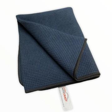 Toalha De Secagem Black Waffle Wave Towel 400GSM - Auto Crazy (50cmx80cm)