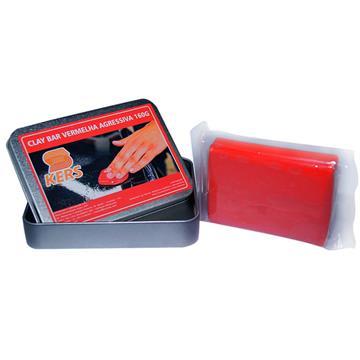 Clay Bar Vermelha Agressiva Kers 160g