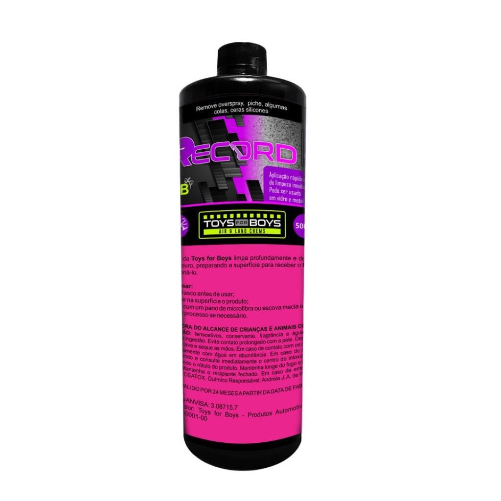 RECORD - 500ML- Removedor de overspray, piches, algumas colas, ceras e silicones - TOYS FOR BOYS