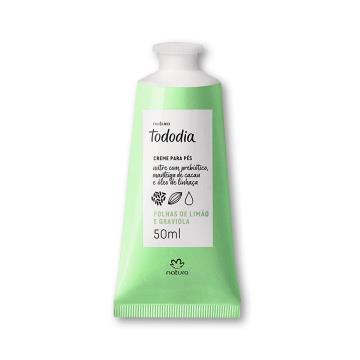 Creme Desodorante Nutritivo para os Pés Folhas de Limão e Graviola Tododia - 50ml (72181)