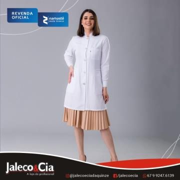 639 JALECO BRANCO GABARDINE